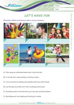 Leisure Time - Let's Have Fun - Grade 4