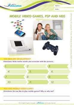 Leisure Time - Mobile Video Games, PSP and NDS - Grade 3