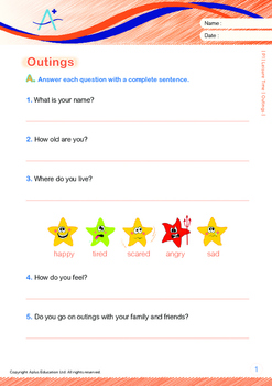 Leisure Time - Outings - Grade 1