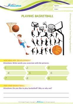 Leisure Time - Playing Basketball - Grade 3