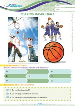Leisure Time - Playing Basketball - Grade 4