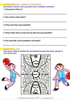 Leisure Time - Playing Basketball is Fun - Grade 2