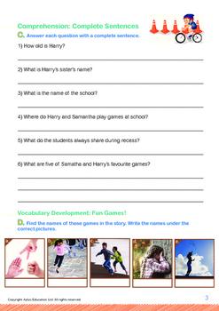Leisure Time - Recess Games - Grade 1