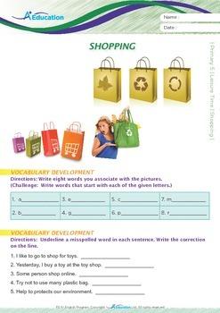 Leisure Time - Shopping - Grade 5
