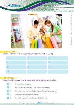 Leisure Time - Shopping - Grade 6