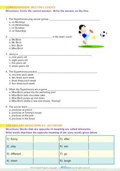 Leisure Time - Soccer - Grade 4