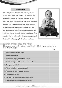 Leisure Time - Video Games - Grade 2
