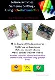 Leisure time PHOTOS interactive book, using Colourful Semantics