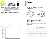 Lemon Battery Experiment Worksheet