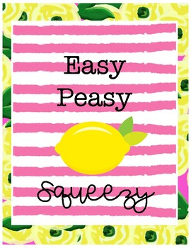 Lemon Binder Covers Freebie