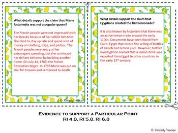 Informational Text Literacy Center: Lemon Cake Box Book