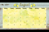 Rustic Lemon Calendar and Teacher Planner Pages