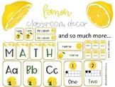 Lemon Classroom Theme Decor Bundle