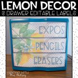 Lemon Dot: Editable 3 Drawer Sterilite Labels