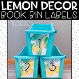 Lemon Dot: Editable Book Bin Labels