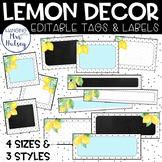 Lemon Dot: Editable Name Tags and Labels