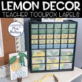 Lemon Dot: Editable Teacher Toolbox Labels