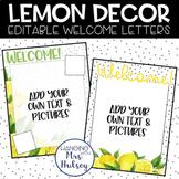 Lemon Dot Teacher Welcome Letters (Editable)