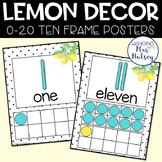 Lemon Dot Ten Frame Posters