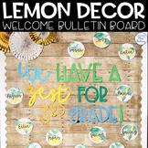 Lemon Dot Welcome Bulletin Board