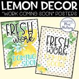 Lemon Dot: Work Coming Soon Posters