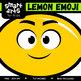 Lemon Emoji Clip Art