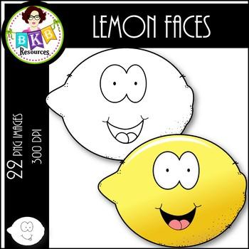 Lemon Faces ● Clipart ● Clipart for Commercial Use