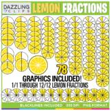 Lemon Fractions Clipart - 78 illustrations!