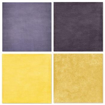 Lemon Fresh Solid Digital Paper, Yellow & Blue Digital Card Stock, Summer