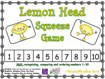 Lemon Head Squeeze Number Game