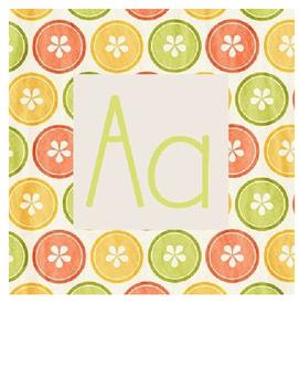 Lemon Lime Alphabet Bundle