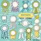 Lemon Lime Award Ribbon Birthday, Clip Art, Recognition of Achievement