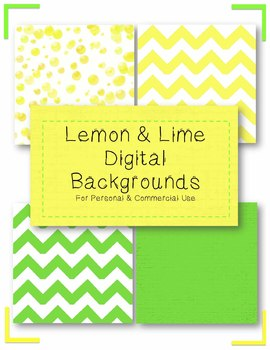 Lemon & Lime Digital Backgrounds