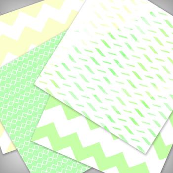 Lemon Lime Digital Paper Pack - 12x12 - High Resolution .JPG fi