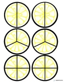 Lemon & Lime Fraction Circles