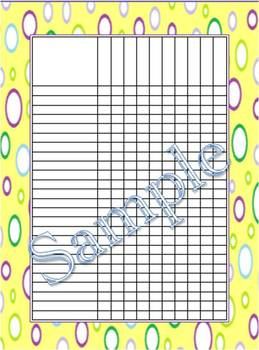 Lemon Multi-Dots Incentive Charts/Grade Chart