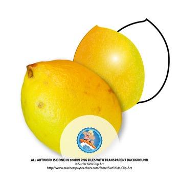 Lemon: Photo, Vector, Black and White Outline