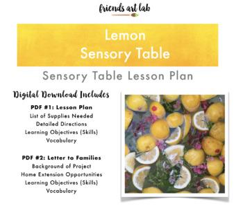 Lemon Sensory Table