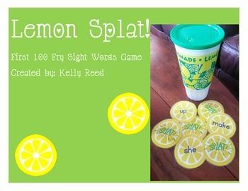 Lemon Splat Sight Word Game