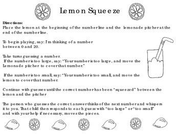 Lemon Squeeze~Math Night Summer Themed Make & Take