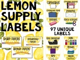 Teacher Toolbox Labels LEMON THEME