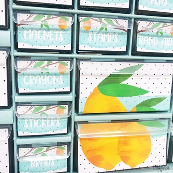 Lemon Teacher Toolbox Labels -Editable