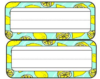 Lemon Themed Classroom Name Tags--EDITABLE
