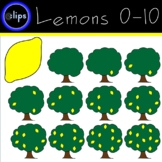 Lemon Tree Counting 0-10 Clip Art Includes Blank Tree and