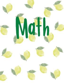 Lemon Watercolor Binder Covers