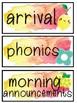 Lemon Watercolor Schedule Cards