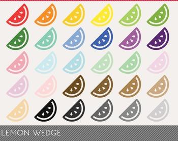 Lemon Wedge Digital Clipart, Lemon Wedge Graphics, Lemon Wedge PNG