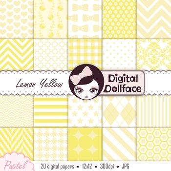 Digital Paper - Lemon Yellow