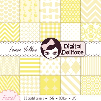 Digital Paper - Lemon Yellow