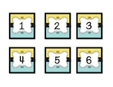 Lemon Yellow and Turquoise Calendar Months and Days